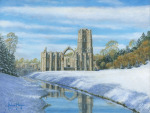 Winter Morning, Fountains Abbey, Yorkshire